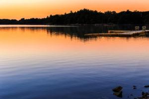 Spot Pond at Sunset