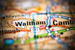 Map of waltham, massachusetts